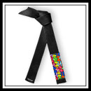 Embroidered Autism Awareness Jujitsu Brushed Cotton Black Belt E4947AA