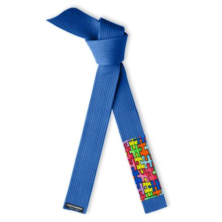 Jujitsu Deluxe Autism Awareness Rank Belt