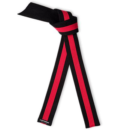 Deluxe Black Belt Red Stripe