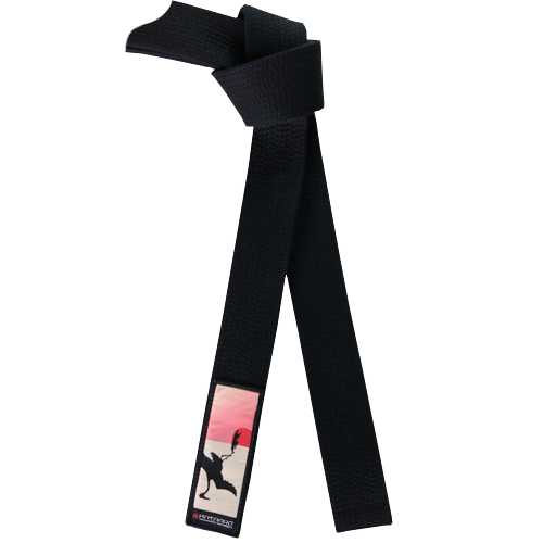 Deluxe Warrior Black Belt - Crane