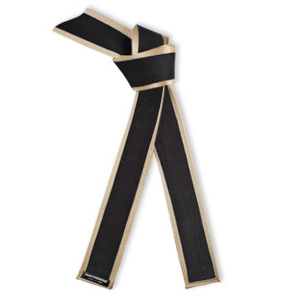 Deluxe Master Black Belt with Gold Satin Border