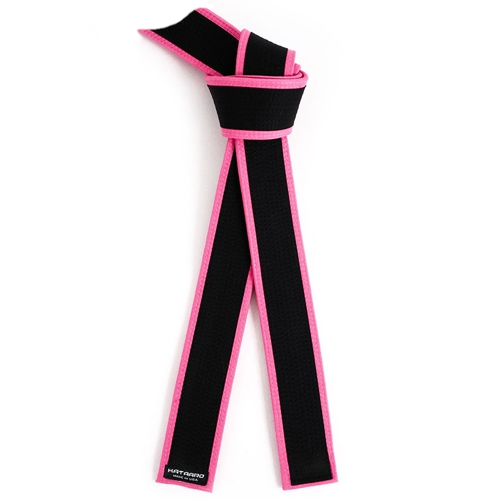 Deluxe Master Black Belt with Pink Border