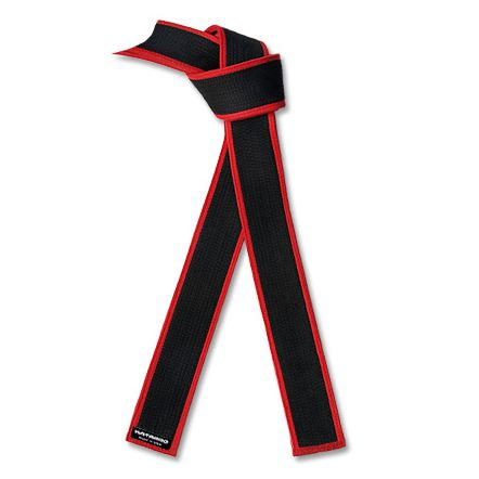 Deluxe Master Black Belt with Red Border