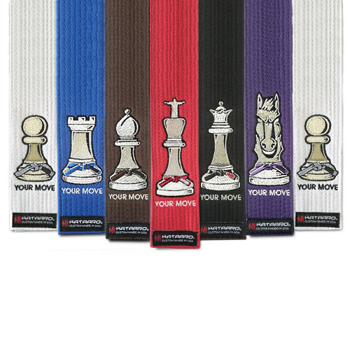 Chess Piece Jujitsu Rank Belt