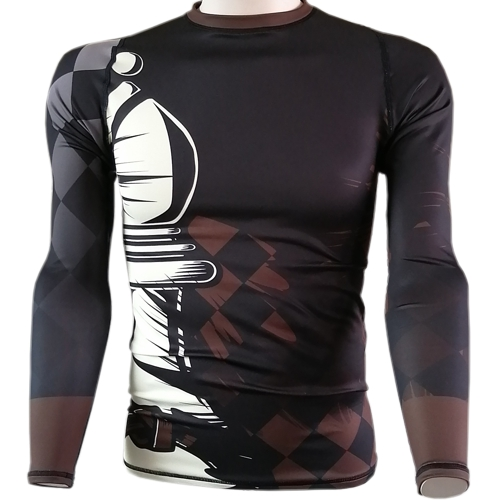 Chess Bishop BJJ Rash Guard - brown belt