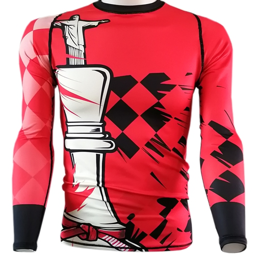 Chess King BJJ Rash Guard - red belt