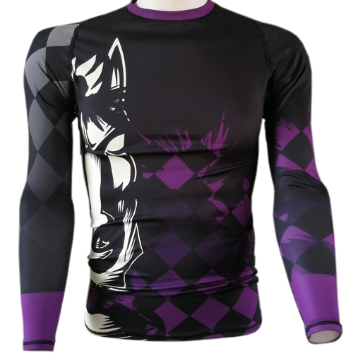 Chess Knight BJJ Rash Guard - purple belt