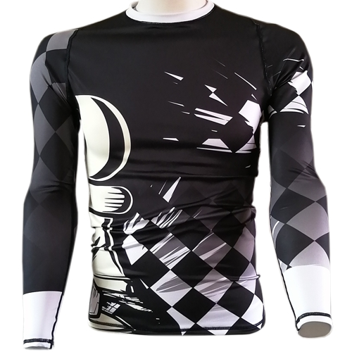 Chess Pawn BJJ Rash Guard - white belt