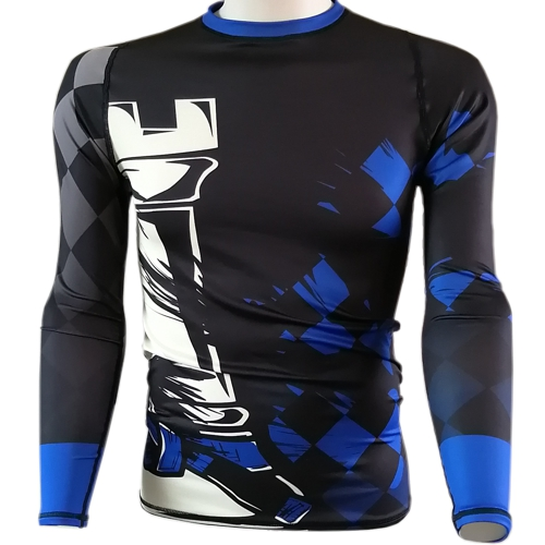 Chess Rook BJJ Rash Guard - Blue Belt