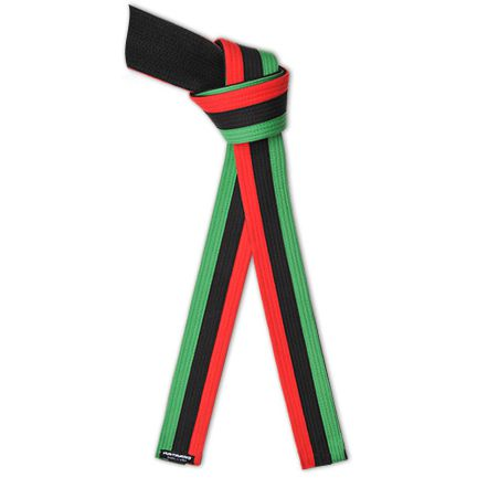 Deluxe Pan African Flag Martial Arts Belt