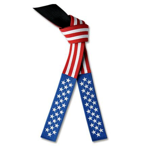 Deluxe Martial Arts American Flag Belt