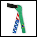 Embroidered American Brazilian Flag Belt - Deluxe E49921