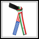 American Mexican Flag Belt - Deluxe 4995