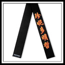 Embroidered Black Belt with Shadow
