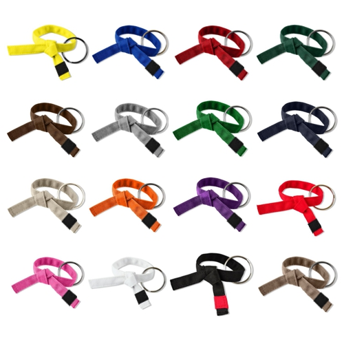 Jujitsu Rank Belt Key Chains Tied