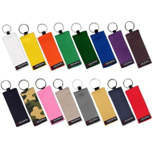 Martial Arts Rank Belt Key Chain