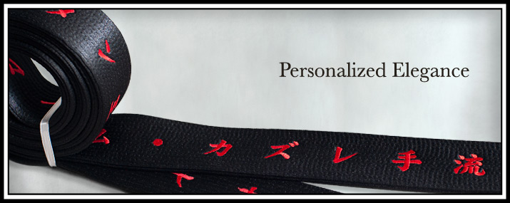 Customized Satin Black Belt