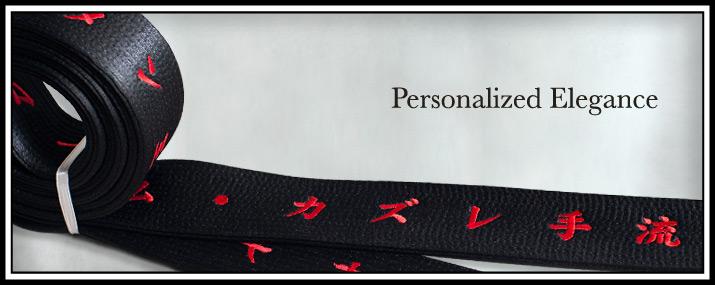 Customized Satin Black Belt
