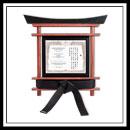 Martial Arts Belt and Certificate Display 5201