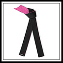 Embroidered Breast Cancer Awareness Black Pink Master Belt - Deluxe E4932BCA