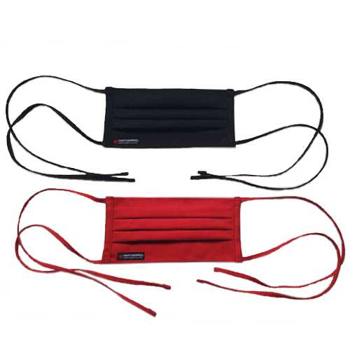Ninja Travel Face Mask - Black and Red