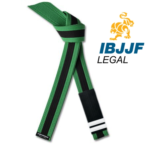 IBJJF Jujitsu Youth Rank Belt Black Stripe