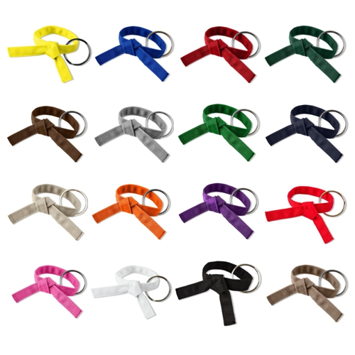 Martial Arts Tied Rank Belt Key Chain
