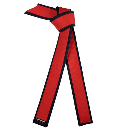 Deluxe Master Red Belt with Black Border