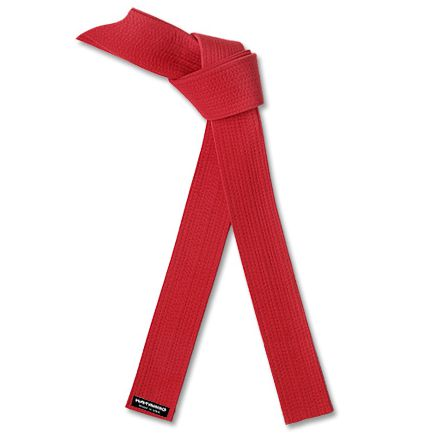 Brushed Cotton Red Belt 49412C