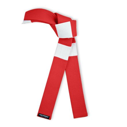 Deluxe Red Panel White Square Belt