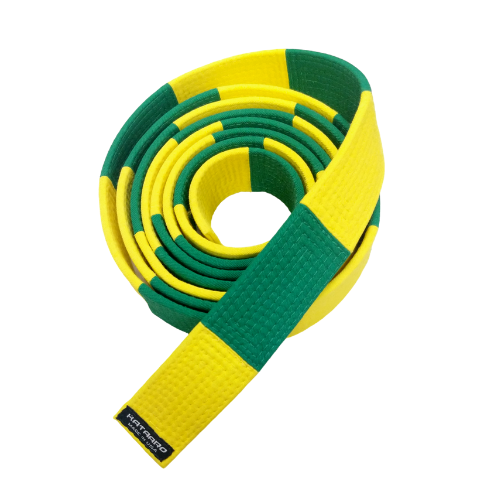 3-Inch Deluxe Yellow and Green Panel Belt (Clearance Item)