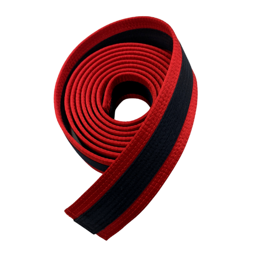 [Prototype] Red Rank Satin Belt with Midnight Blue Stripes (Clearance Item)