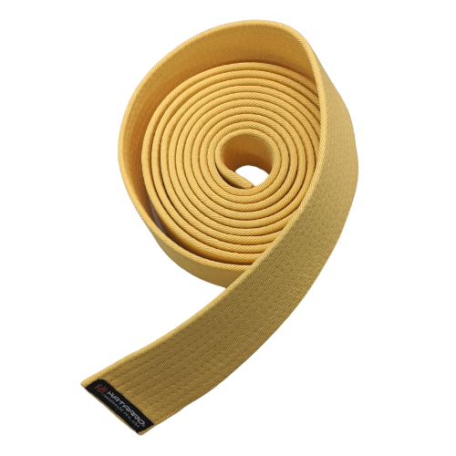 Yellow 100% Cotton Rank Belt (Clearance Item)