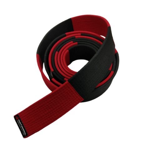 5-Inch Deluxe Dark Red and Black Panel Belt (Clearance Item)