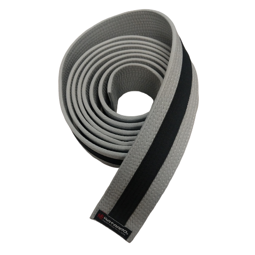 Gray Rank Belt Black Stripe