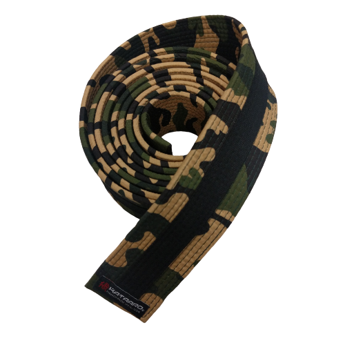 Camouflage Deluxe Rank Belt with Black Stripe (Clearance Item)