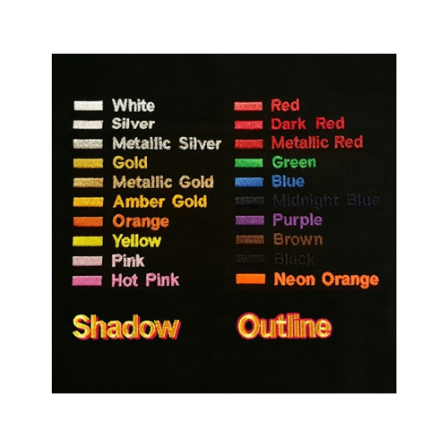Embroidery Thread Colors