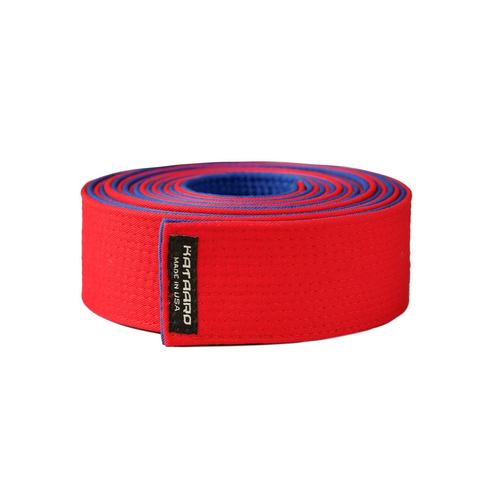 Custom Master Belt Karate Red Blue Kataaro