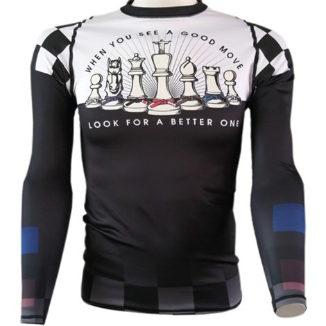 Chess Pieces BJJ Rash Guard  - Jujutsu